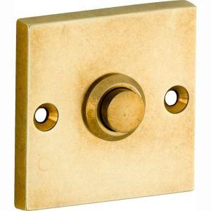Wallebroek Mi Satori 00.4015.90 deurbel vierkant messing getrommeld ongelakt - A25000753 - afbeelding 1