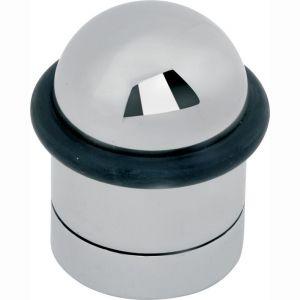 Wallebroek Mi Satori 00.4545.90 deurbuffer cilinder 43 mm messing glans nikkel - A25002318 - afbeelding 1
