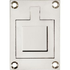Wallebroek Mi Satori 00.6915.90 luikring rechthoekig 66x48 mm vierkant messing glans nikkel - A25004907 - afbeelding 1