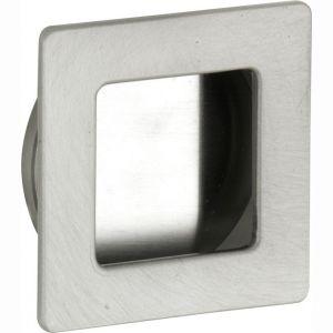 Wallebroek 00.4533.90 schuifdeurkom vierkant 40 mm messing mat nikkel - A25004718 - afbeelding 1