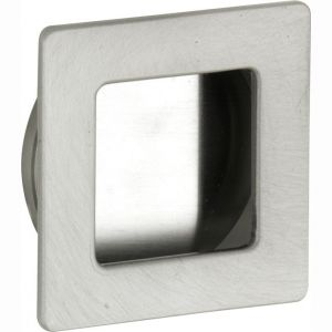 Wallebroek 00.4534.90 schuifdeurkom vierkant 50 mm messing mat nikkel - A25004719 - afbeelding 1