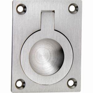 Wallebroek 00.6904.90 luikring rechthoekig 40x30 mm messing mat nikkel - A25004925 - afbeelding 1