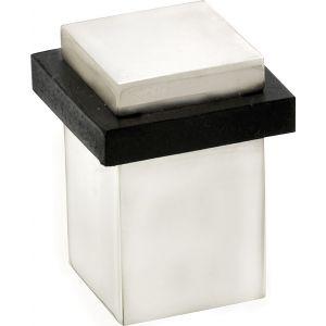Wallebroek Mi Satori 00.4558.90 vierkante deurstopper messing mat nikkel ongelakt - A25002313 - afbeelding 1