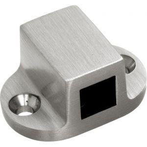Wallebroek Mi Satori 00.9179.90 geleideblokje ovaal vierkante stang messing mat nikkel ongelakt - A25000599 - afbeelding 1