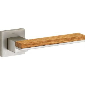Wallebroek M&T 90.0014.46 deurkruk gatdeel links Mimolimit messing mat nikkel ongelakt-eiken - A25002411 - afbeelding 1