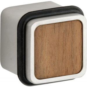 Wallebroek M&T 90.4500.90 deurstopper Maximal messing mat nikkel ongelakt-walnoot - A25002304 - afbeelding 1