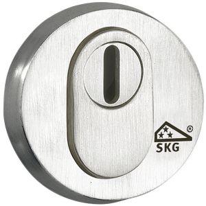 Wallebroek Mi Satori 00.2479.89 SKG cilinderrozet Elegant buitenzijde messing mat nikkel PVD kernt - A25004894 - afbeelding 1