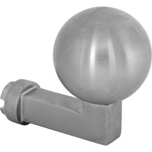 Wallebroek Mi Satori 00.2503.90 knop Bauhaus Kogel voor SKG schild messing mat nikkel PVD - A25002347 - afbeelding 1