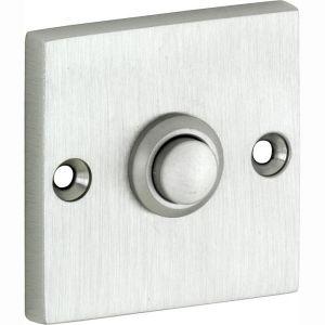 Wallebroek Mi Satori 00.4015.90 deurbel vierkant messing mat nikkel PVD - A25000754 - afbeelding 1