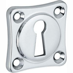 Wallebroek Mi Satori 00.2423.55 sleutelrozet Vierkant 38x38 mm messing glans chroom - A25003650 - afbeelding 1