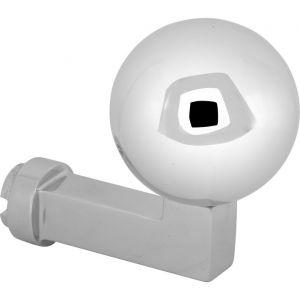 Wallebroek Mi Satori 00.2503.90 knop Bauhaus Kogel voor SKG schild messing glans chroom - A25002348 - afbeelding 1