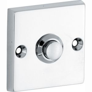 Wallebroek Mi Satori 00.4015.90 deurbel vierkant messing glans chroom - A25000755 - afbeelding 1