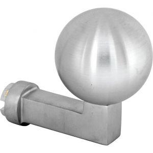 Wallebroek Mi Satori 00.2503.90 knop Bauhaus Kogel voor SKG schild messing mat chroom - A25002349 - afbeelding 1