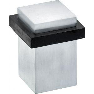 Wallebroek Mi Satori 00.4558.90 vierkante deurstopper messing mat chroom - A25002315 - afbeelding 1