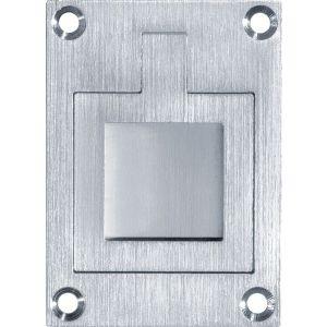Wallebroek Mi Satori 00.6915.90 luikring rechthoekig 66x48 mm vierkant messing mat chroom - A25004910 - afbeelding 1