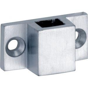 Wallebroek Mi Satori 00.9180.90 geleideblokje rechthoek vierkante stang messing mat chroom - A25000594 - afbeelding 1
