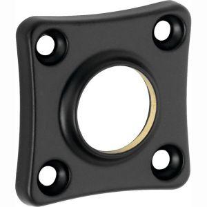 Wallebroek Mi Satori 00.2422.60 krukrozet vierkant 38x38 mm messing mat zwart - A25003553 - afbeelding 1