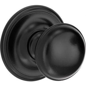 Wallebroek Mi Satori 00.4008.90 voordeurknop Paddenstoel 70 mm messing mat zwart - A25002364 - afbeelding 1