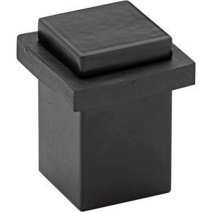 Wallebroek Mi Satori 00.4558.90 vierkante deurstopper messing mat zwart - A25002316 - afbeelding 1