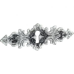 Wallebroek 86.8149.90 sleutelplaat Lavorato messing antiek zilver - A25003740 - afbeelding 1