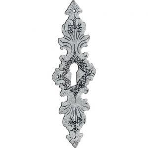 Wallebroek 86.8150.90 sleutelplaat Lavorato verticaal messing antiek zilver - A25003741 - afbeelding 1