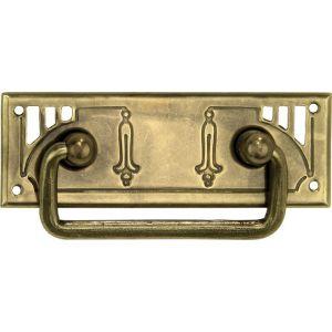 Wallebroek 86.8139.90 valgreep Art Nouveau messing verbronsd - A25005695 - afbeelding 1