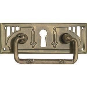Wallebroek 86.8140.90 valgreep Art Nouveau met sleutelgat messing verbronsd - A25005696 - afbeelding 1