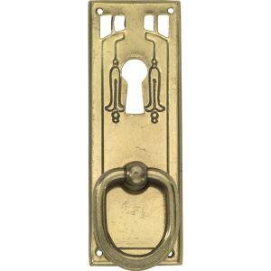 Wallebroek 86.8142.90 meubeltrekker Art Nouveau met sleutelgat messing verbronsd - A25005701 - afbeelding 1