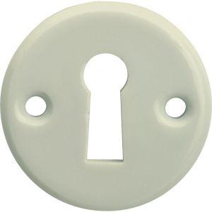 Wallebroek Merigous 80.2404.55 sleutelrozet porselein Evelyne ivoor - A25003639 - afbeelding 1