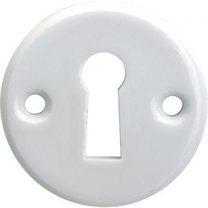 Wallebroek Merigous 80.2407.55 sleutelrozet porselein Evelyne wit - A25003640 - afbeelding 1