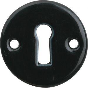 Wallebroek Merigous 80.2410.55 sleutelrozet porselein Evelyne zwart - A25003641 - afbeelding 1