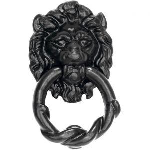 Wallebroek 70.4022.90 deurklopper Lion ijzer zwart - A25000728 - afbeelding 1