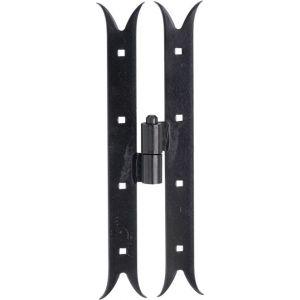 Wallebroek 70.4555.90 paumelle Zwaluw DIN links 350 mm ijzer zwart - A25000255 - afbeelding 1