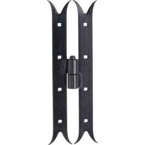 Wallebroek 70.4556.90 paumelle Zwaluw DIN rechts 350 mm ijzer zwart - A25000256 - afbeelding 1
