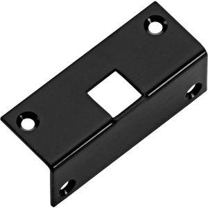 Wallebroek Idyllique 70.9014.90 hoeksluitplaat voor pompespagnolet Hamburg ijzer zwart - A25000611 - afbeelding 1