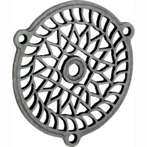 Wallebroek 70.7804.90 luchtrooster Versailles 11 cm ijzer blank - A25002280 - afbeelding 1