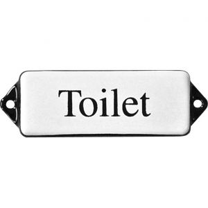 Wallebroek Identity 88.0103.90 emaille tekst Toilet 8x3 cm wit-zwart - A25004741 - afbeelding 1