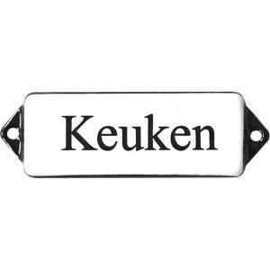 Wallebroek Identity 88.0104.90 emaille tekst Keuken 8x3 cm wit-zwart - A25004742 - afbeelding 1