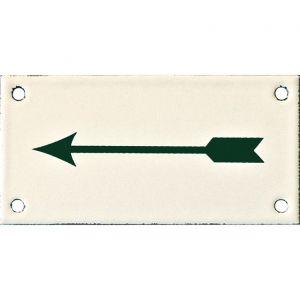 Wallebroek Identity 88.0146.90 emaille pictogram Pijl 6x12 cm ivoor-groen - A25004747 - afbeelding 1