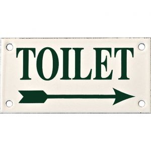 Wallebroek Identity 88.0148.90 emaille pictogram Toilet rechts Klassiek 6x12 cm ivoor-groen - A25004752 - afbeelding 1