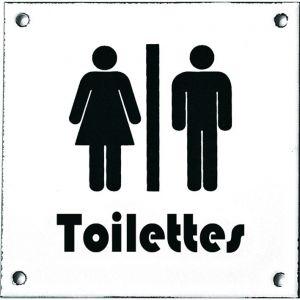 Wallebroek Identity 88.0161.90 emaille pictogram Toilettes Modern 12x12 cm wit-zwart - A25004755 - afbeelding 1