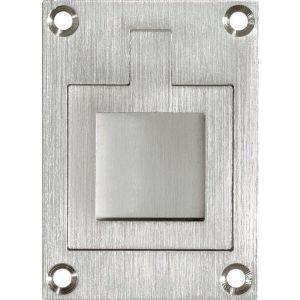 Wallebroek Mi Satori 00.6915.90 luikring rechthoekig 66x48 mm vierkant messing mat nikkel gelakt - A25004908 - afbeelding 1