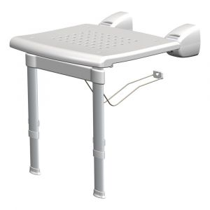 SecuCare douchestoel opklapbaar met pootjes hoogte 40-55 cm uitschuifbaar per 25 mm - Y50750296 - afbeelding 1