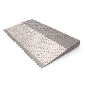 SecuCare modulaire drempelhulp set 3 laags 84x6x45 cm grijs-bruin hoogte aanpasbaar naar 5,5, 5 of 4,5 cm - A50750255 - afbeelding 1