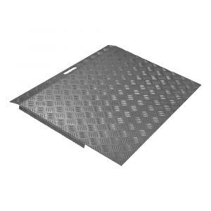 SecuCare drempelhulp aluminium type 3 breedte 78x59,5 cm hoogte 5-15 cm RAL 7021 zwartgrijs - A50750245 - afbeelding 1