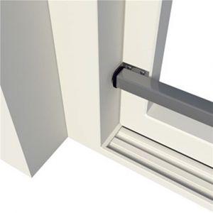 SecuBar Basic positioneer houder voor Basic schuifpui en schuifraambeveiliging zilvergrijs RAL 9006 - A50750156 - afbeelding 1