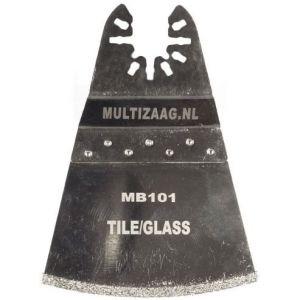 Multizaag MB101 diamant segmentmes Universeel slijpen voegen en tegels diamond rasp snijbreedte 2 mm driehoek 50x70 - A11600124 - afbeelding 1