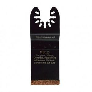 Multizaag MB120 slijpblad steen en beton Universeel slijpen voegen en tegels HCS rasp snijbreedte 2 mm recht 40x35 - A11600128 - afbeelding 1