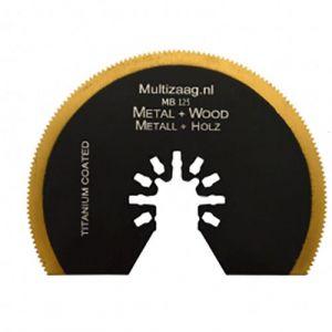 Multizaag MB125 HSS titanium coated halfrond zaagblad Universeel metaalbewerking fijn half rond 80x80 - A11600060 - afbeelding 1