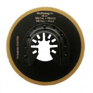 Multizaag MB127 HSS titanium coated rond zaagblad Universeel metaalbewerking fijn 80x80 - A11600068 - afbeelding 1